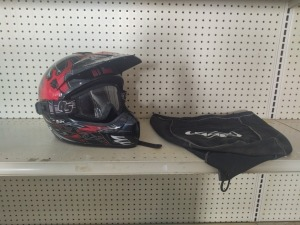 HJC Helmet (Youth Large) With Scott Goggles & Helmet Bag