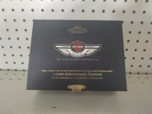 Harley-Davidson 100th Anniversary Edition Hallmark Keepsake Ornaments In Case