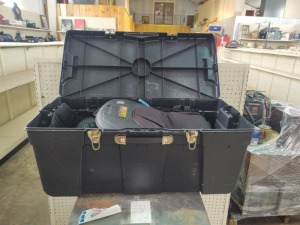 "Heavy Duty Storage Trunk, 32.5"" L x 15.75"" W x 13.75"" H With Kolpin Backpacks"
