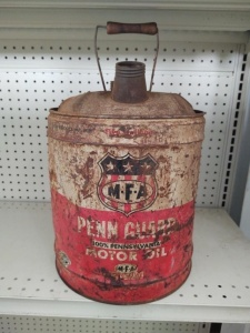 5-Gallon Can Vintage MFA Penn Guard Motor Oil
