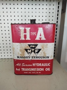 Vintage H Type A Massey Ferguson Hydraulic Oil Tin Can