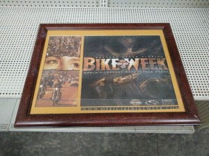 Framed Bike Week Poster