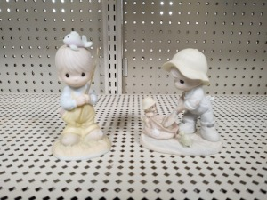 (2) Precious Moments Collectible Figurines
