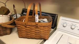 Longaberger basket, other misc. baskets & wall decor