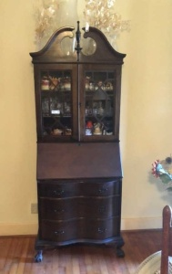 Secretary Desk With Hutch (contents not included)