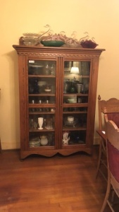 Vintage Curio Cabinet (contents not included)