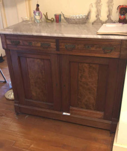 Marble Top Buffet (contents not included)
