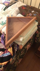 Flag display box & small cedar chest