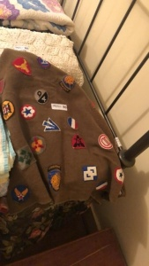 Homemade Blanket with military patches