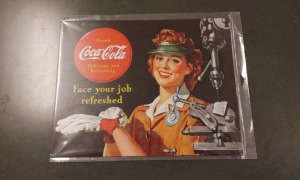 Metal Coca-Cola Advertisement Sign (reproduction)