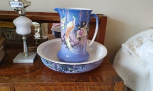 Vintage Pitcher & Basin by L & Sons LTD.  Made in England.