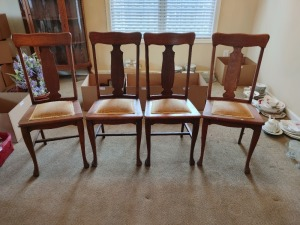 (4) Padded Dining Chairs
