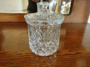 Crystal Candy Jar With Lid