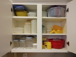 Contents Of Plastic Storage Containers and Measuring Cups