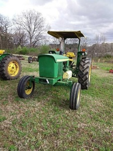 John Deere Tractor With Canopy, showing 383.7 hrs