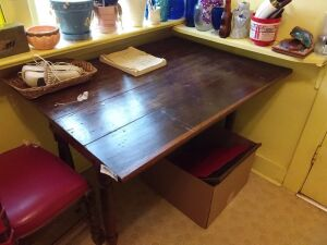 Vintage table (contents on top are not included)