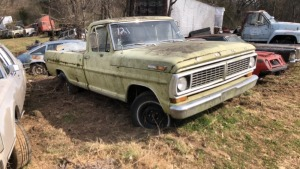 1970 Ford F-100 Pick Up; VIN# F10GCG79247