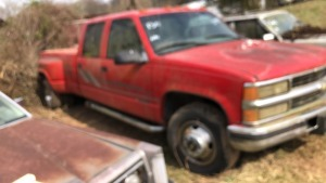 1996 Chevy 3500 Dually, Red.  Bill Of Sale Only.  VIN# 1GCHC33F0TF001985