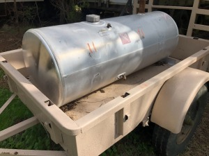 Trailer With Aluminum Fuel Tank & Pump