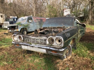 1964 Chevrolet BelAir, black.  Bill Of Sale Only.