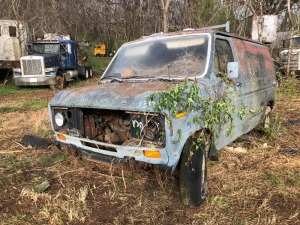 1976 Ford Econoline Van 150, blue.  Bill Of Sale Only. VIN# E14HHC45695