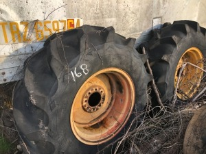 Set Of Tractor Tires & Rims, 18.4 - 26