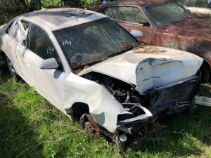 2006 Audi, white (totaled); VIN# WAUDF78E16A144679