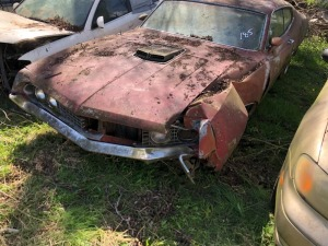 Ford Torino GT, red BIG ENGINE, WRECKED