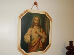 Large Framed Print of Jesus