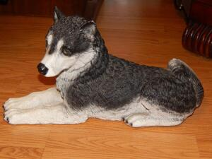 Husky Dog Figurine