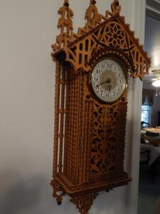 Wood Clock with nice scroll work
