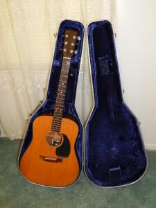 Vintage '60's Martin Guitar Modified to Electric with case
