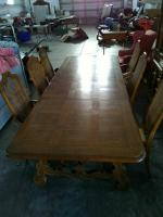 Formal Dining Table With (2) Leaves & (6) Chairs (matches Lot #2)