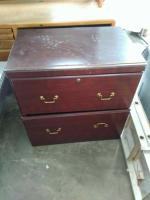 Wood 2-Drawer File Cabinet