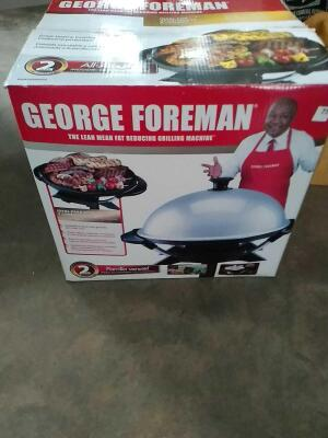 George Foreman Portable Indoor/Outdoor Grill (electric); NIB