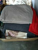 Box Of Sewing & Upholstery Fabric