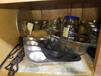 (1) Lot With Glass Bakeware, Crock Pot, Muffin Tins & More