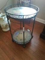 2-Tier Round Display Table