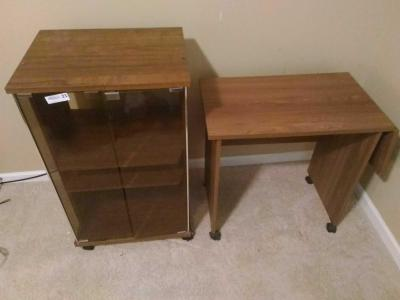Stereo Cabinet & Drop Leaf Small Table