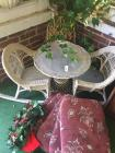 Child Size Wicker Patio Table With (2) Chairs