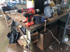 Work Table, Bench Grinder, Heater, Vise & Miscellaneous