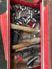 Toolbox With Tools, File Cabinet, Wood Cabinet With Contents & Cooler With Contents