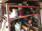 Pallet Rack & Contents, Yard Tools & Contents Of Wall