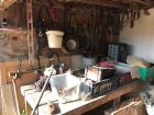 Contents Under Shed:  yard tools, truck toolbox & miscellaneous; (Boat not included)