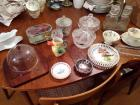 Glass Candy Dishes, Cheese Ball Plate & More